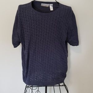 Alfred Dunner Blue Knit Blouse